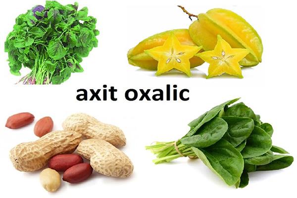 Axit Oxalic có trong thực phẩm tự nhiên